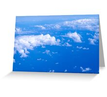 Over clouds Greeting Card