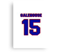 National baseball player Denny Galehouse jersey 15 Canvas Print