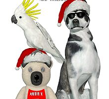 Cool Dog and Friends by headwax