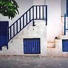 Stairs at the door by Louise Cooke