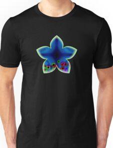 Blue Abstract Flower Unisex T-Shirt
