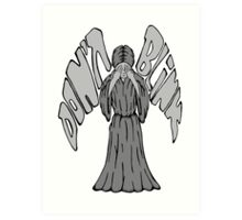 Don't Blink Weeping Angel Art Print