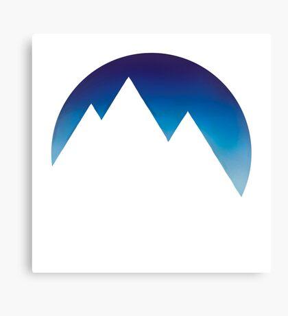 Minimalistic Mountain Peaks Canvas Print
