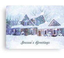 Home in Winter Snow Canvas Print