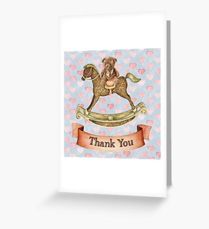 Nursery/Baby themed Thank You Greeting Card