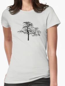 tree black version Womens Fitted T-Shirt