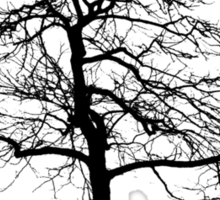 tree black version Sticker