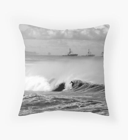Bar/Dixon Beach Throw Pillow
