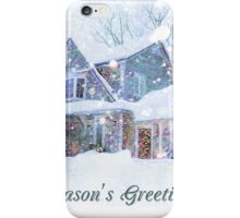 Home in Winter Snow iPhone Case/Skin