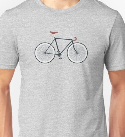 Fixie, Fixed Gear, Biking Cycler Unisex T-Shirt