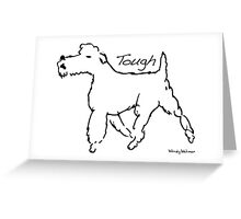 Tough Terrier Greeting Card