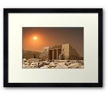 ONCE THERE WERE PHARAOHS Framed Print