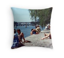 Spring Sunday, Paris Throw Pillow