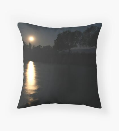 Orange Moon - Omeo Victoria Throw Pillow