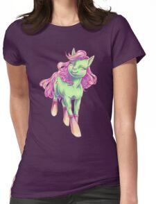 Pink and Mint Pony Womens Fitted T-Shirt