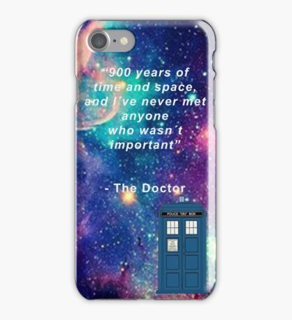 Doctor Who 11th Doctor Quote iPhone Case/Skin