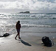 Early Stroll Mudjimba Beach by Victoria Leggatt