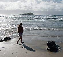 Early Stroll Mudjimba Beach by Victoria Leggatt