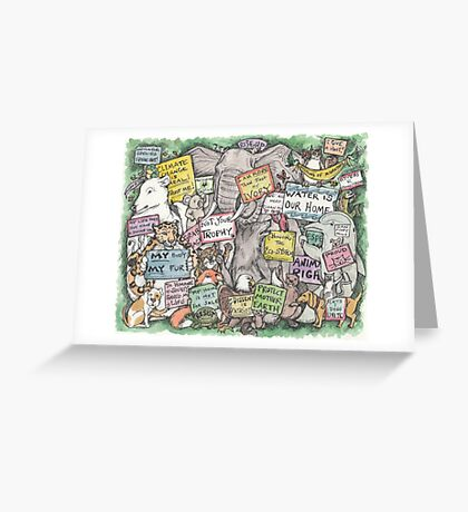 Animals March on DC Greeting Card