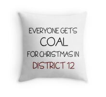 Coal for Christmas Throw Pillow
