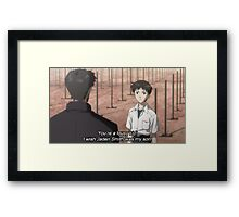 According to Gendou, Shinji - Neon Genesis Evangelion Framed Print