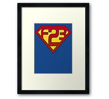 Superman F23 Framed Print