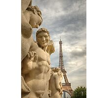 Eiffel Tower Statues Photographic Print
