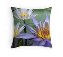 water lilies of the south Throw Pillow