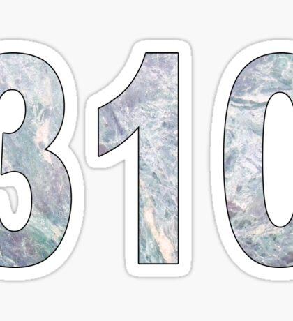 310 Area Code Sticker