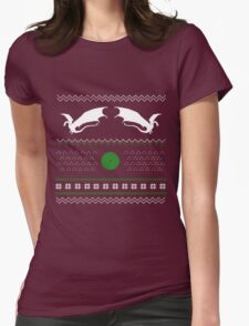 Hobbit: Ugly Christmas Sweater Womens Fitted T-Shirt