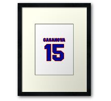 National baseball player Paul Casanova jersey 15 Framed Print