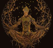 Groot Mandala by Meg Kirkpatrick