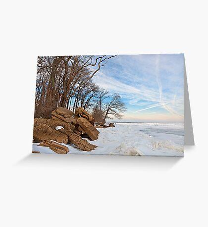 Rugged Winter Beach Greeting Card
