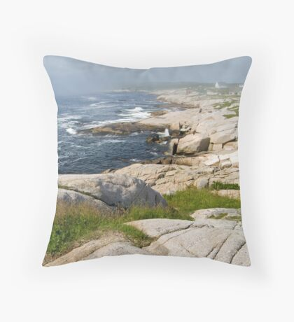 Foggy Coast Throw Pillow