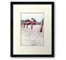 southern snow Framed Print