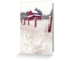 southern snow Greeting Card