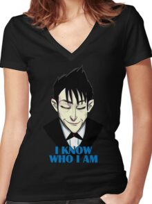 I know who I am Women's Fitted V-Neck T-Shirt