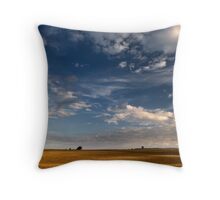 When the field glows the voices in my head say trip the shutter Throw Pillow
