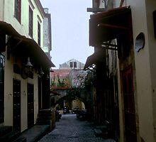 Alley in Rhodes by blod