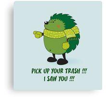 Eco Hedgehog Canvas Print