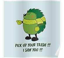 Eco Hedgehog Poster