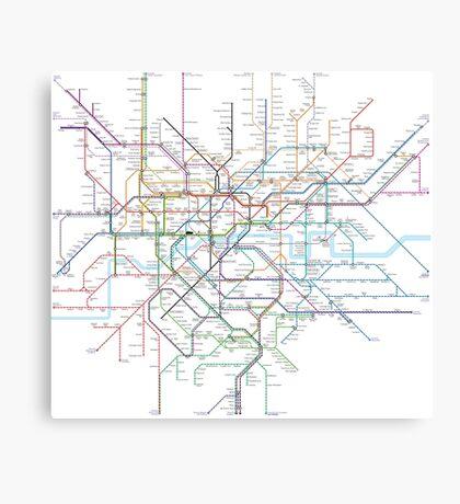 London Rail & Tube Canvas Print