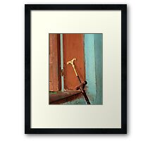Mequamia, Ethiopian prayer stick Framed Print