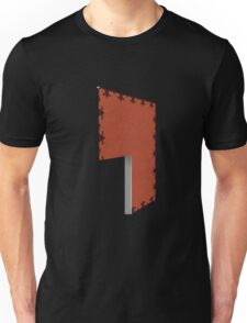 Glitch Homes Wallpaper red darkcreepy left divide Unisex T-Shirt