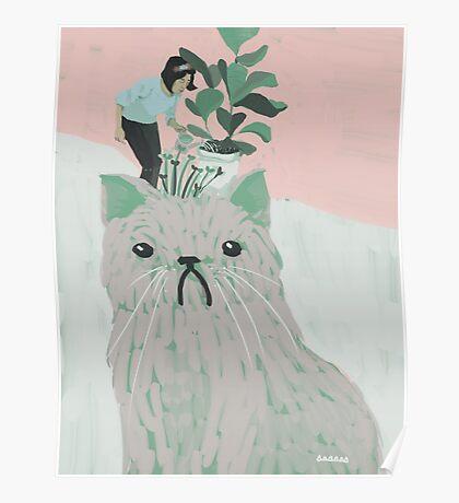Cat Garden Poster