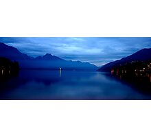 Lake Wakatipu at Night Photographic Print