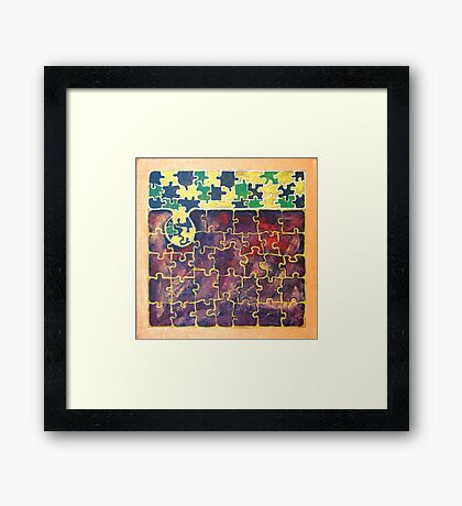 PUZZLE PIECE #15 Framed Print