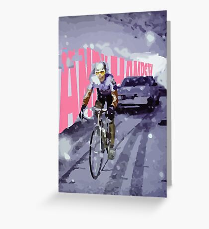 Andy Hampsten Giro d' Italia  Greeting Card