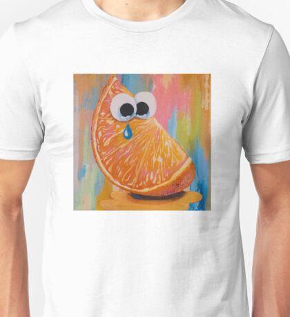 CRYING ORANGE with GOOGLY EYES Unisex T-Shirt