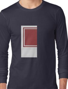 Glitch Homes Wallpaper red molding wall left Long Sleeve T-Shirt